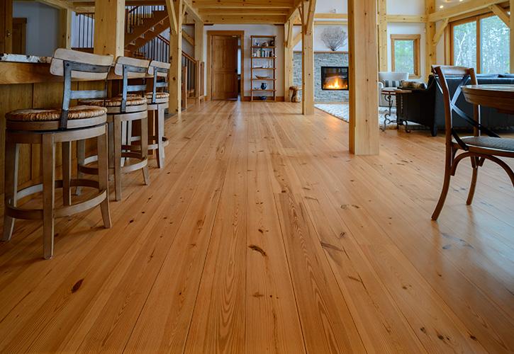 Heart Pine Wide Plank Flooring