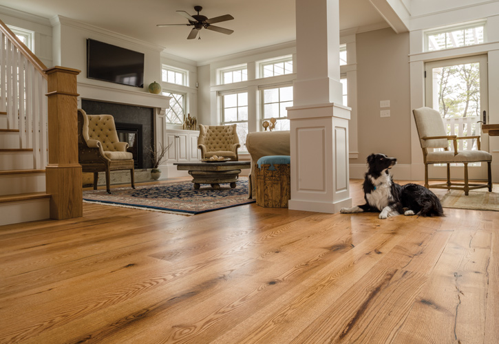 Red Oak Wide Plank Hardwood Flooring Ponders Hollow