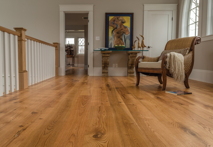 Live Sawn Red Oak Floor. Trim and Mouldings by Ponders Hollow.
