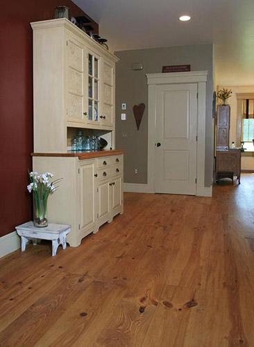 Nice Red Pine Floor. Beam By Ponders Hollow.