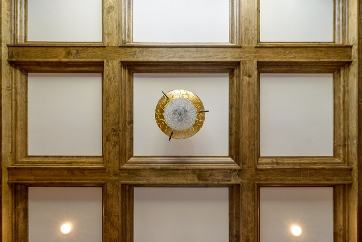 Stained Popular Coffered Ceiling.