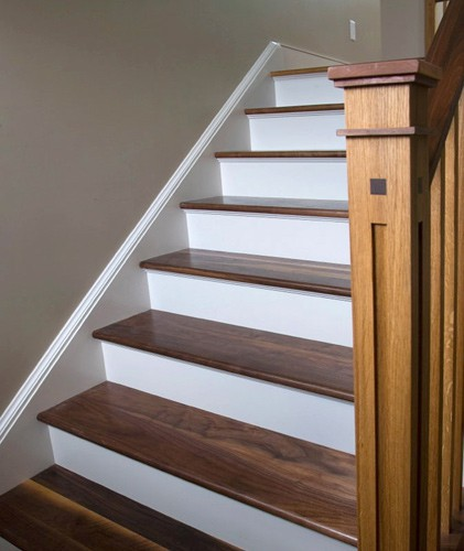 Walnut Treads and Railing.
