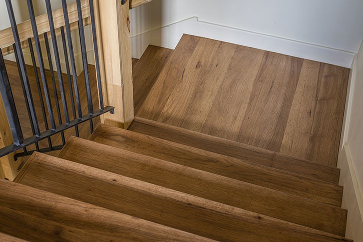 Hickory Staircase.