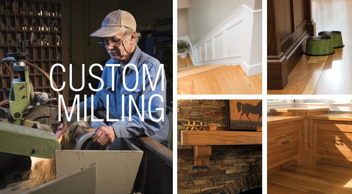 Custom millwork in a variety of species by Ponders Hollow.