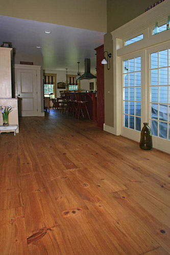 Custom Red Pine Wide Plank Flooring