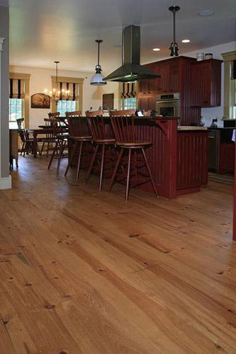 Custom Red Pine Wide Plank Flooring Ponders Hollow